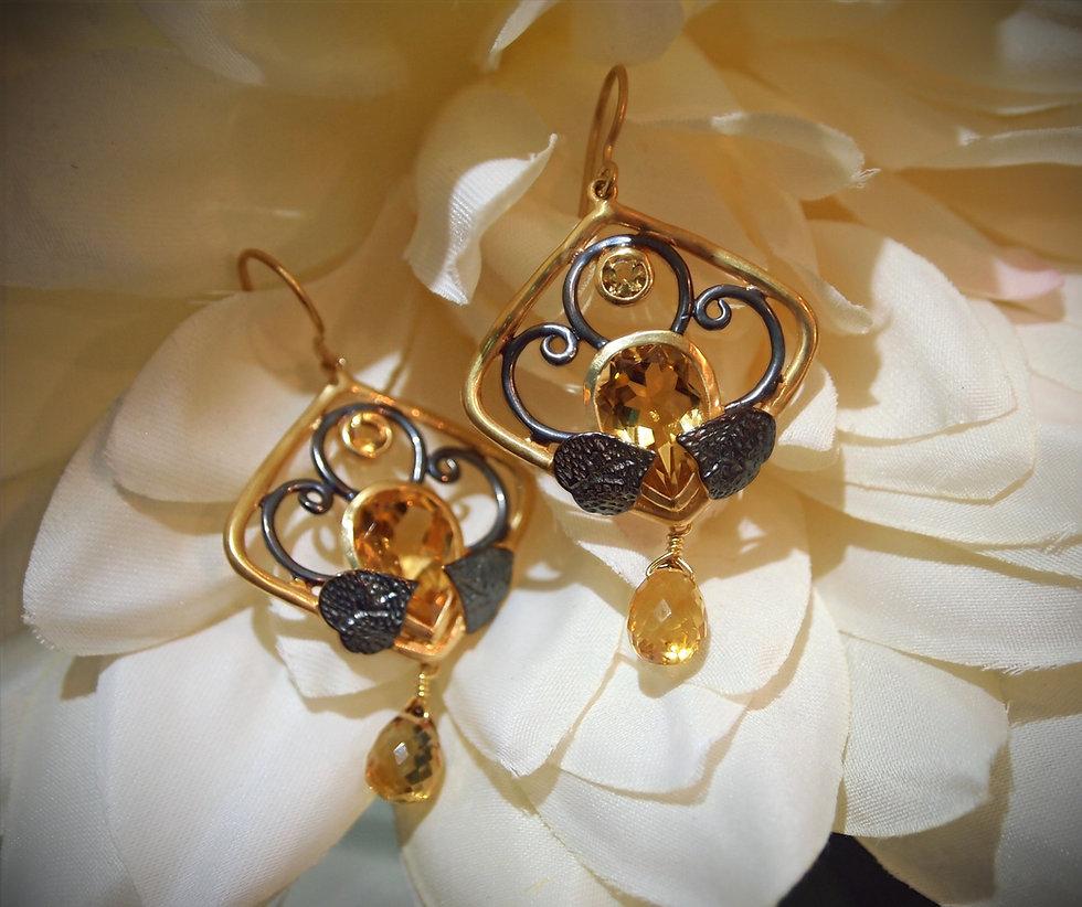 citrine-earrings