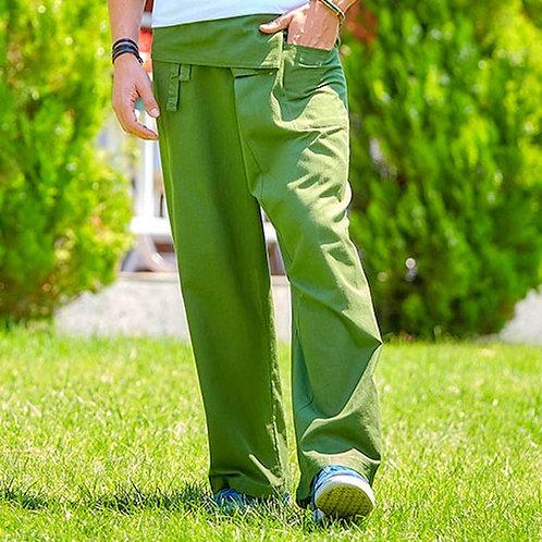 Green Thai Fisherman Cotton Pants