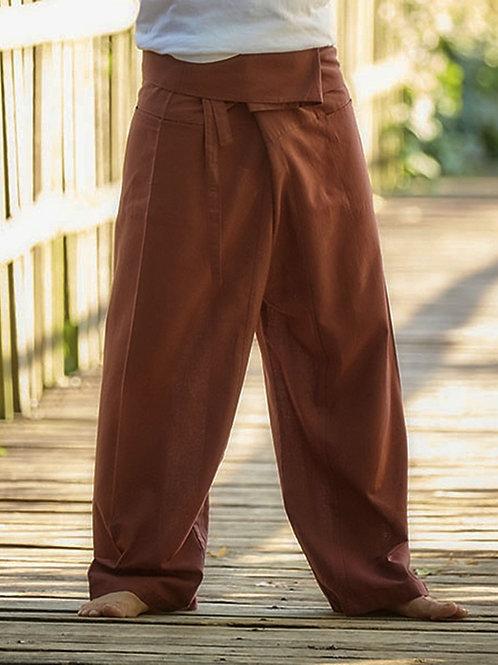 Brown Thai Fisherman Cotton Pants