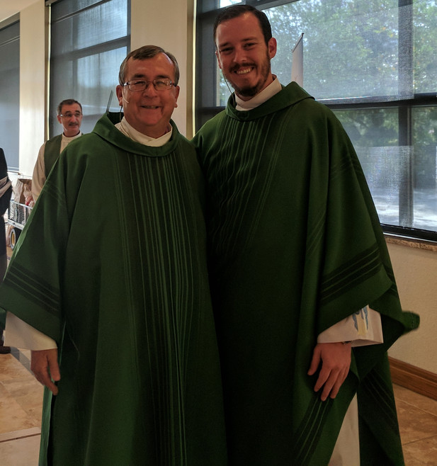 Deacon John Ustick with his son, Fr. Andrew Ustick