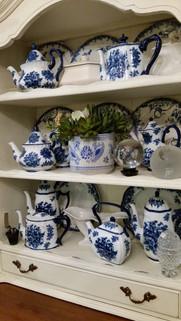 Blue Vintage Teapots