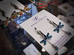 Anne Koplik dragonfly earrings