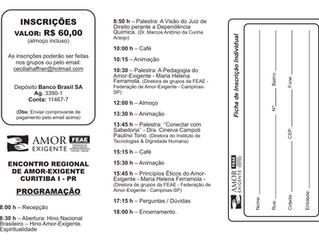 Encontro Regional de Amor-Exigente Curitiba I - 22/09/2018