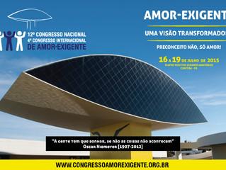 Curitiba é sede do XII Congresso Nacional e IV Congresso Internacional de Amor-Exigente