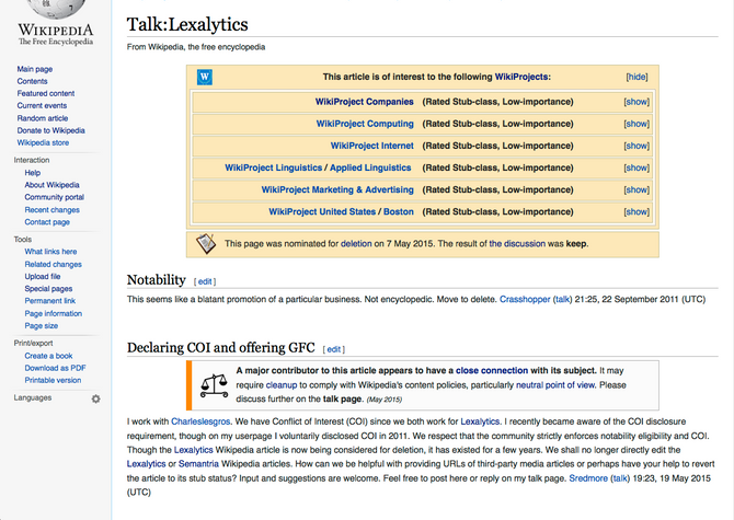 Our company's Wikipedia page is deleted. Now what?