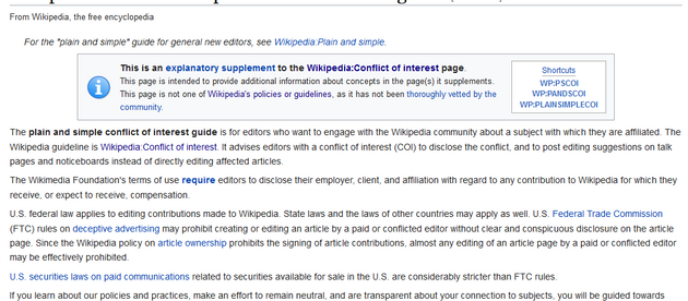 What Wikipedia Wants from Companies