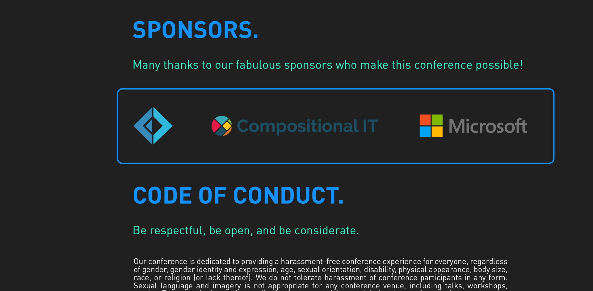 CONF18 sponsors