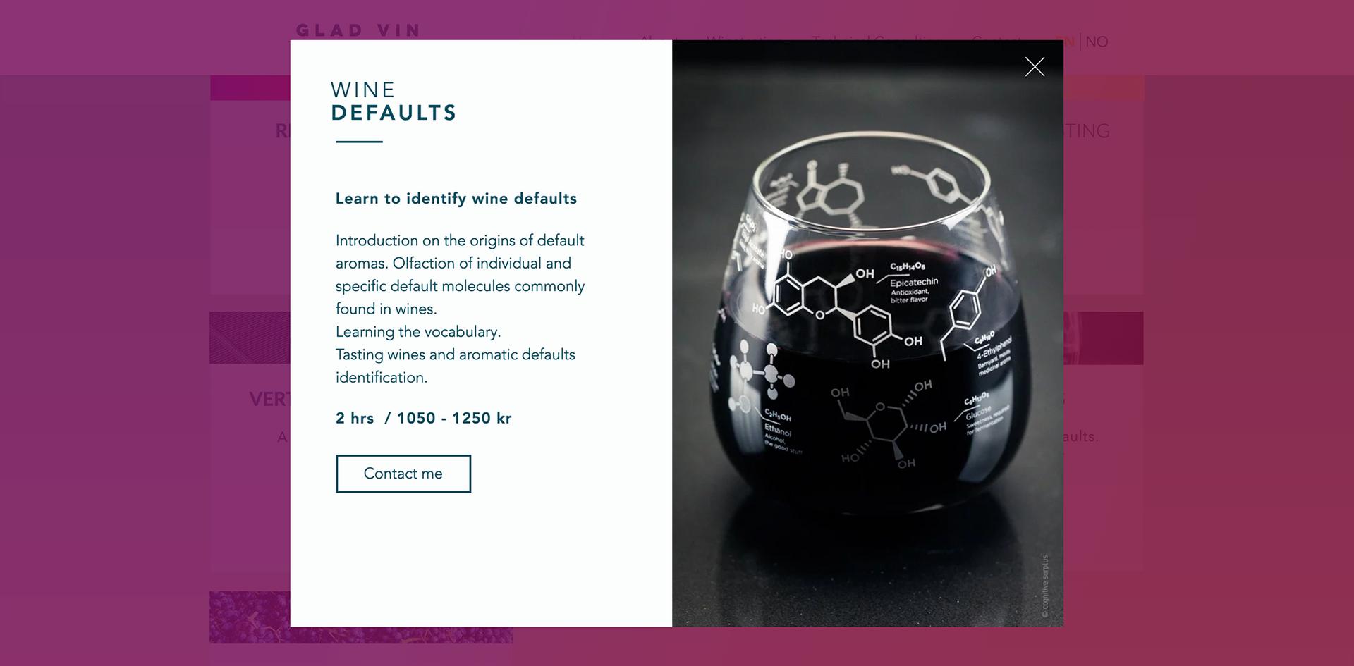 Wine defaults