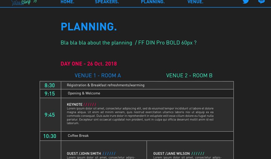 CONF18 planning
