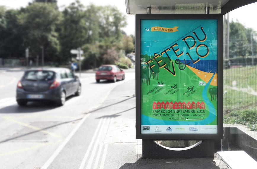 affiche abris bus