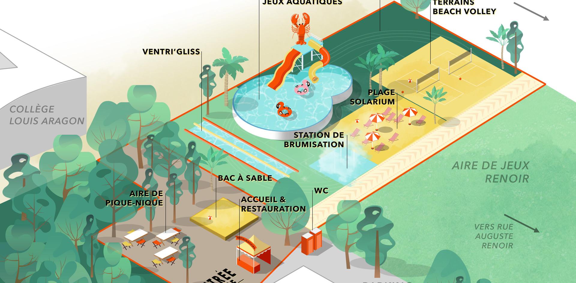Plan plage de Montigny