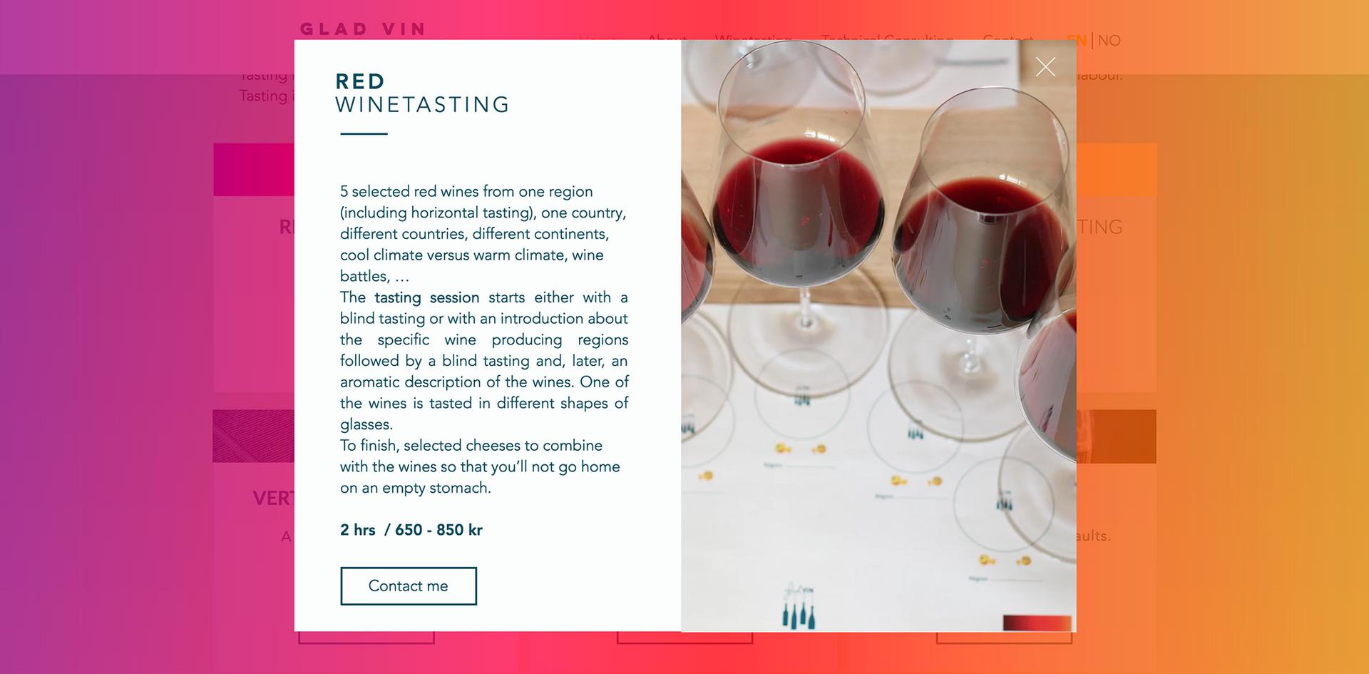 red winetasting