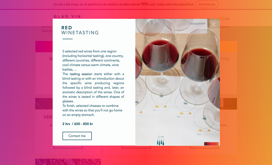red winetasting