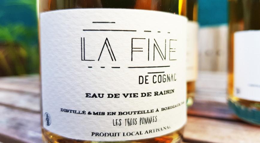 Étiquette fine de cognac