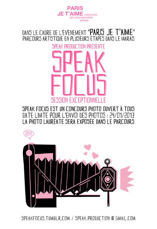 speak focus Paris je t'aime