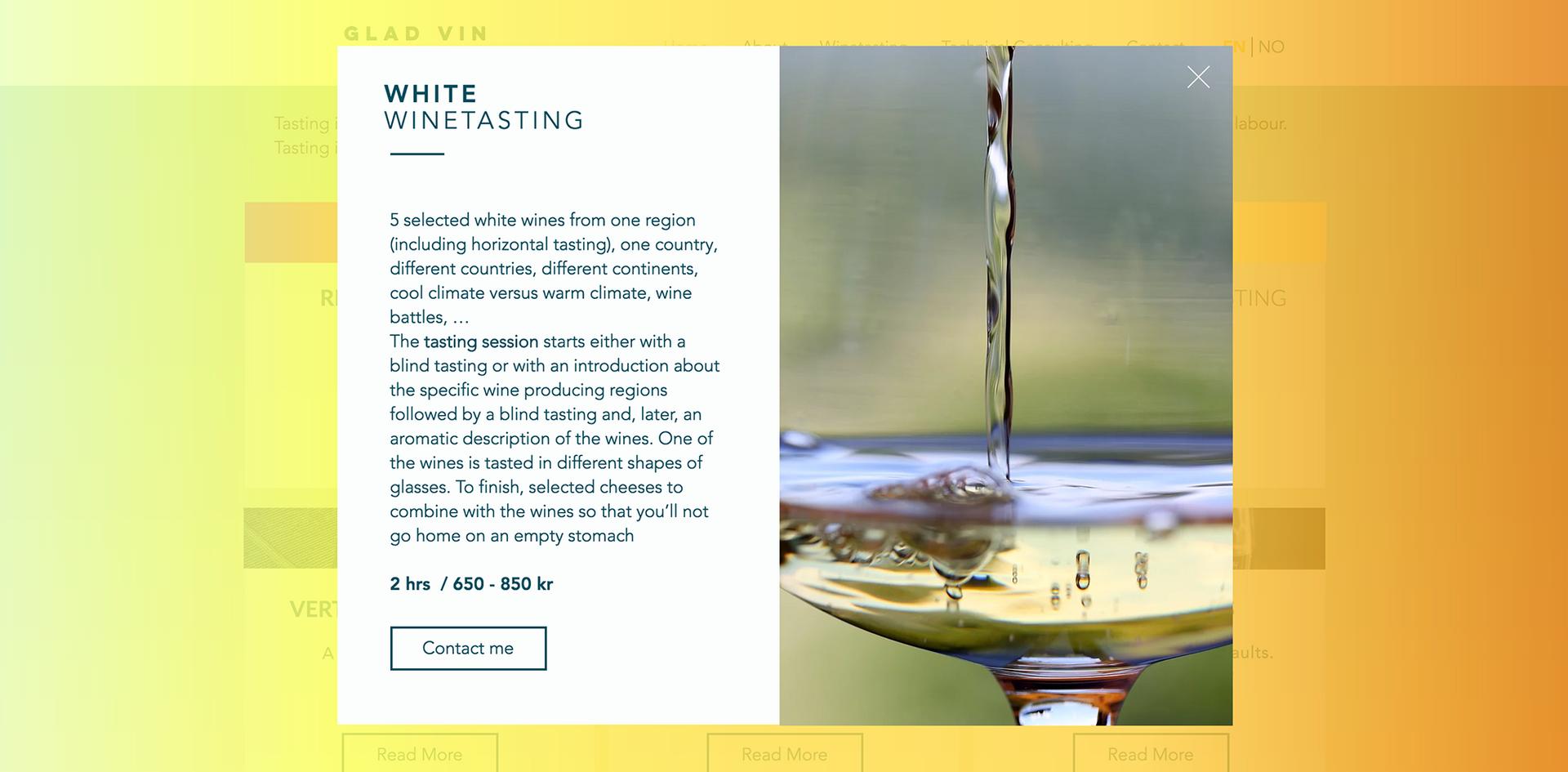 white winetasting
