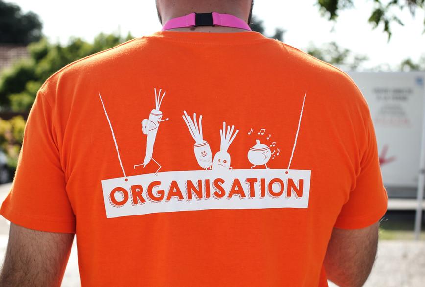 t-shirt bénévoles