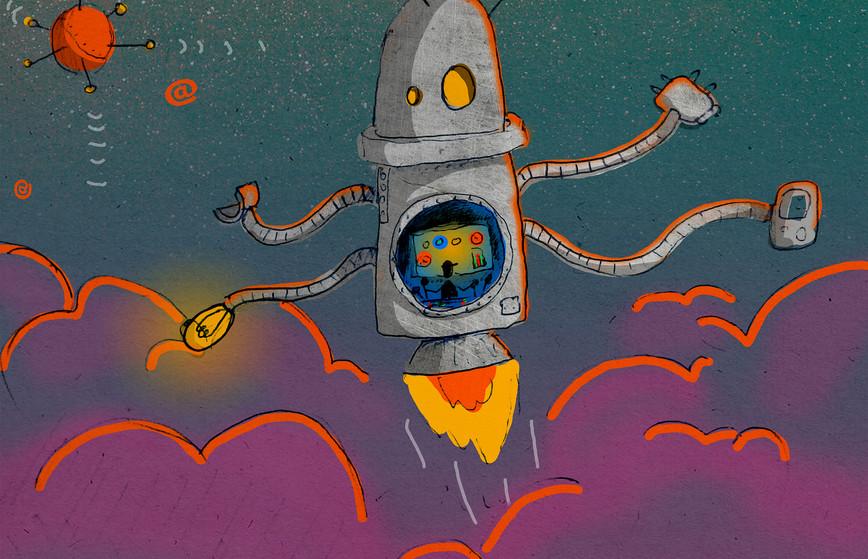robot fusée.