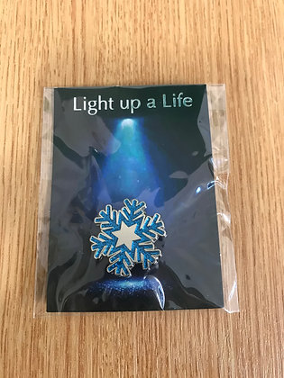 Light up a Life Snowflake Pin Badge