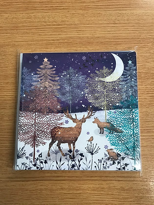 Butterfly Hospice Christmas Cards -Woodland Christmas