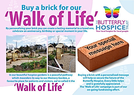 BUTTERFLY HOSPICE WALK OF LIFE A5 POSTCA