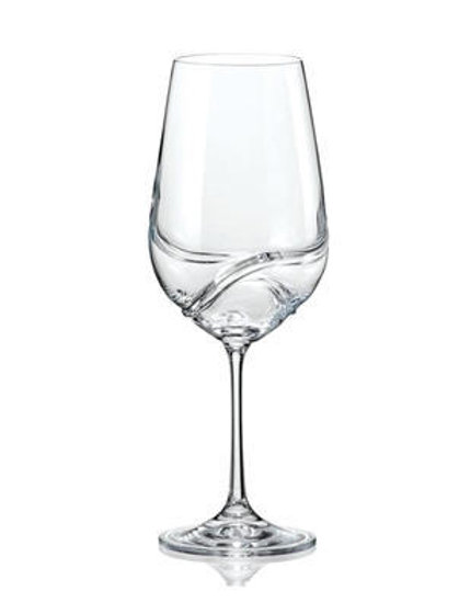 Bohemia Crystal Turbulence Wine Glass 550ml Set of 2