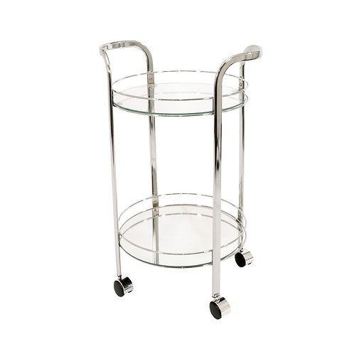 Small Chrome Round Trolley