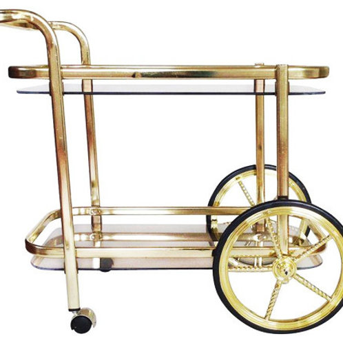 Gold Bar Trolley with Large Wheel