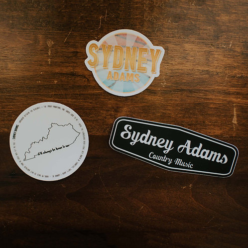 Sydney Adams Stickers