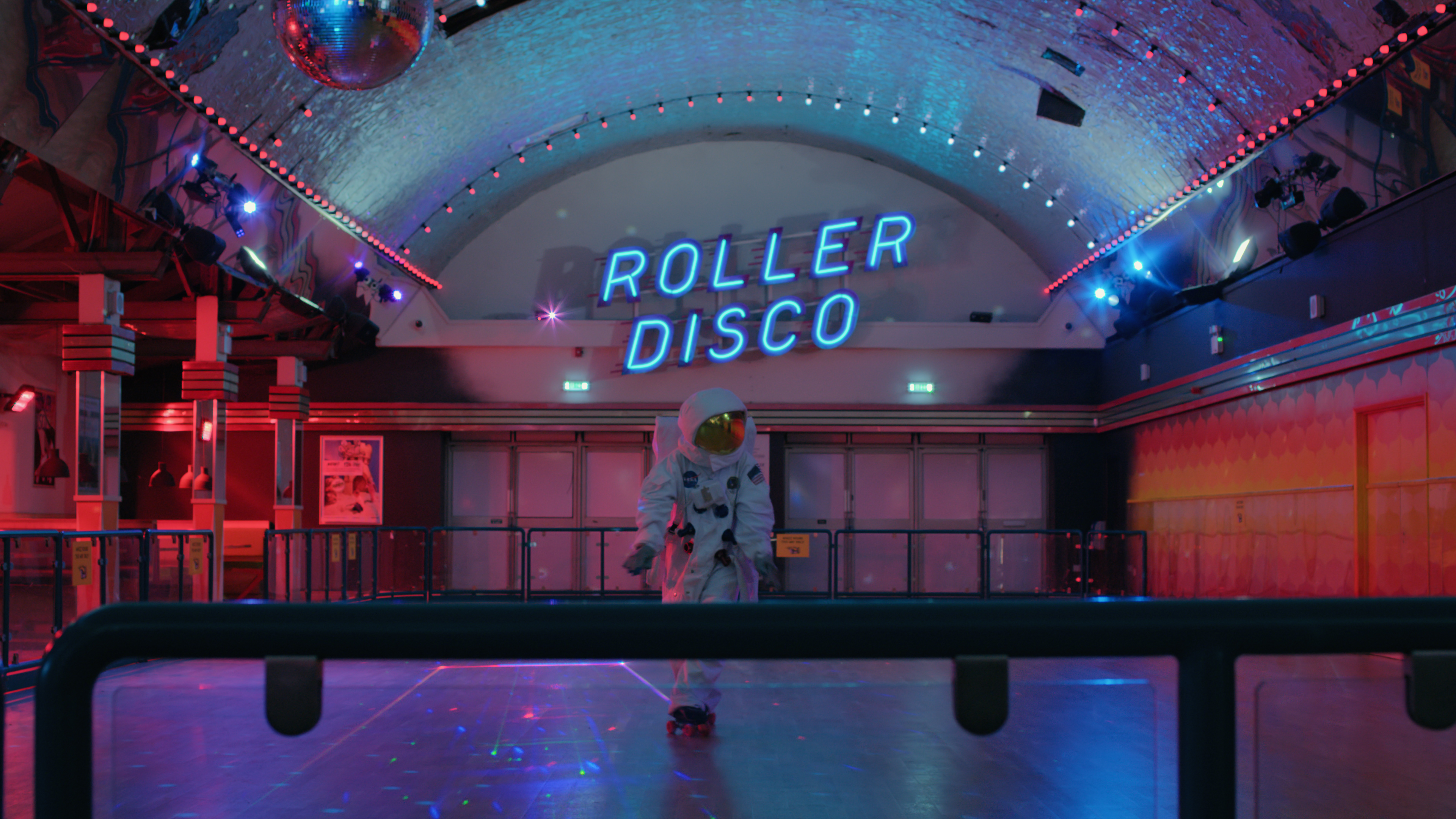 Astronaut in Roller Disco