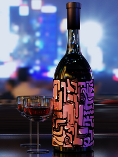 Wine Bottle (3D Render)
