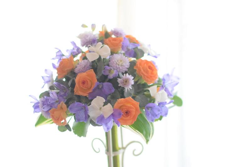 No.2 3級モダンー装飾的花嫁の花束