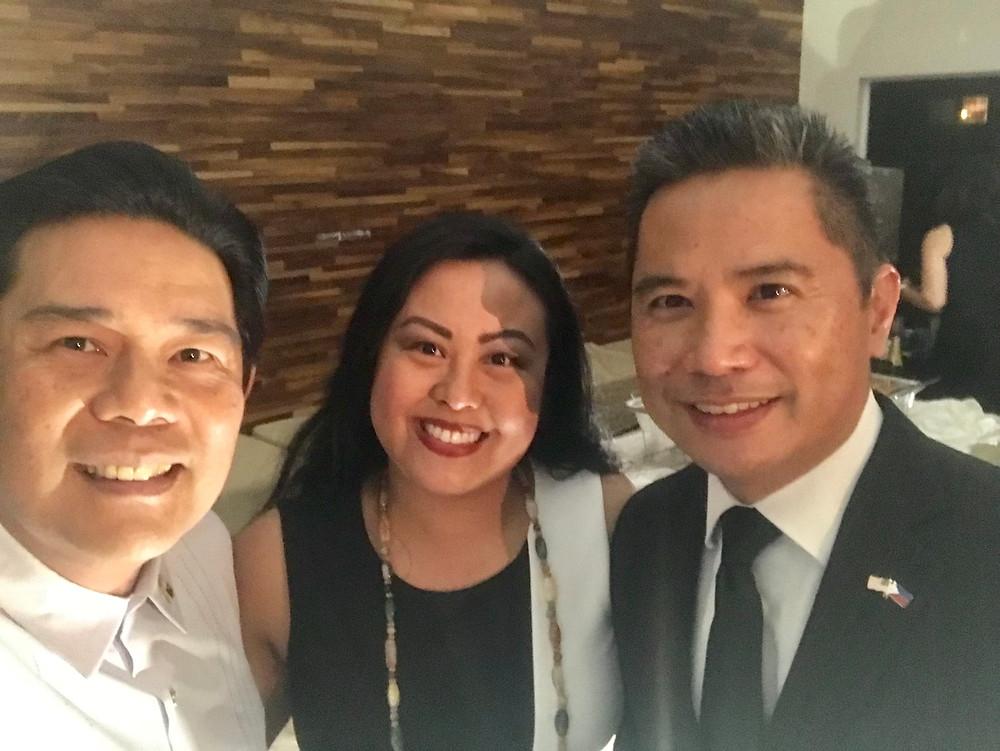 Con Gen of L.A., Adelio Cruz. FilAmChamber of SD, Dr. Catherine Sy Luib. Hon Con, Audie De Castro.