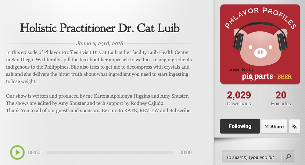 Phlavor Profiles beings Season 2 with Dr. Cat of Luib Health Center