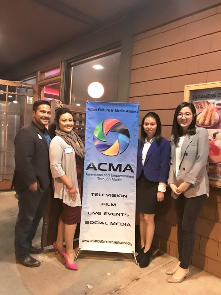 FilAmChamber Vice President, Dr. Catherine Sy Luib & Board Director, Mr. Ted John Mendoza with ACMA Student Interns