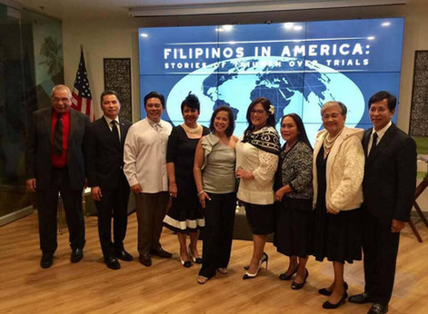 Filipinos In America. Stories of Triumph Over Trials.