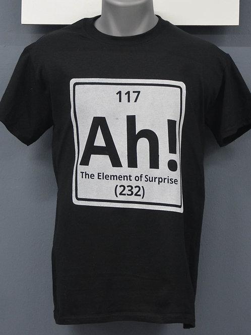 Uniesex zwart shirt met witte opdruk