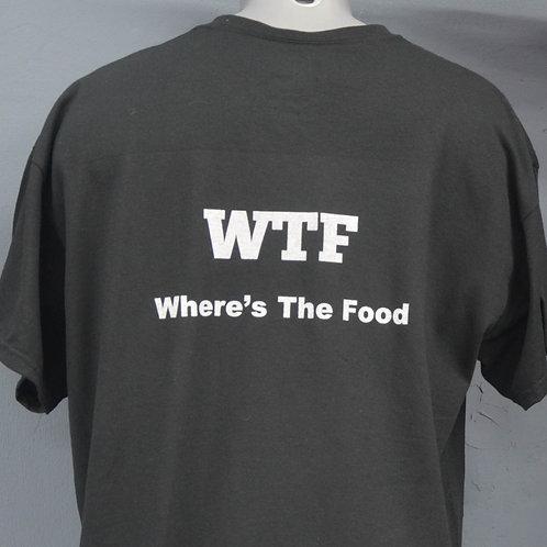 Unisex shirt zwart met witte zeefdruk aan de achterkant