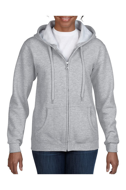 6 pack Gildan sweater hooded full zip heavyblend for her