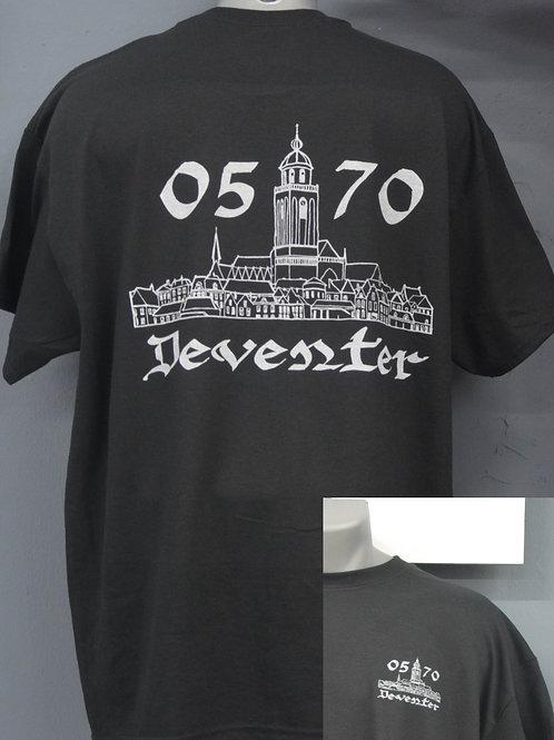 Unisex shirt zwart met witte opdruk