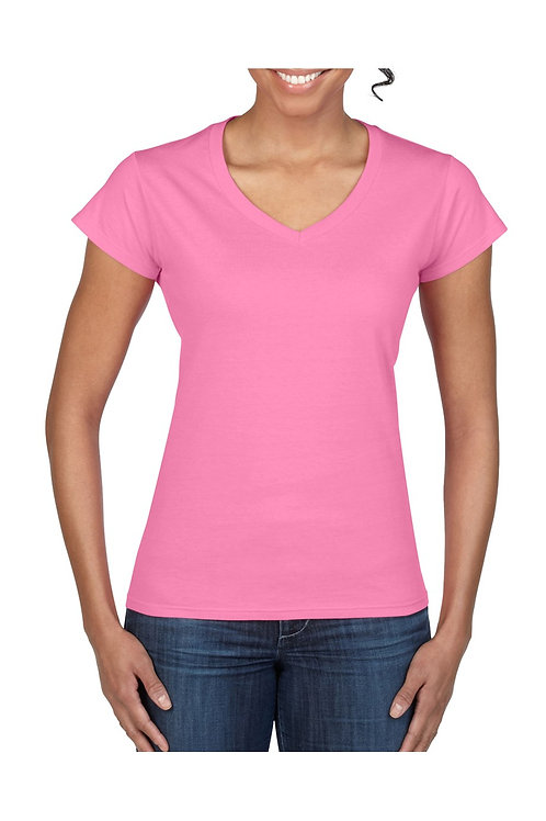 Gildan T-shirt V-neck Softstyle ss for haar