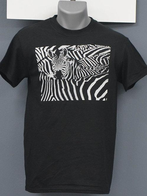 Unisex zwart shirt, witte opdruk,