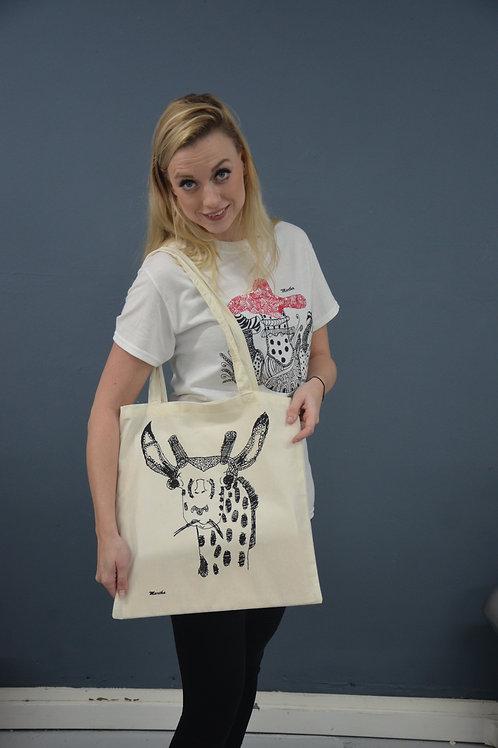Martha. Linnen tas met giraffe