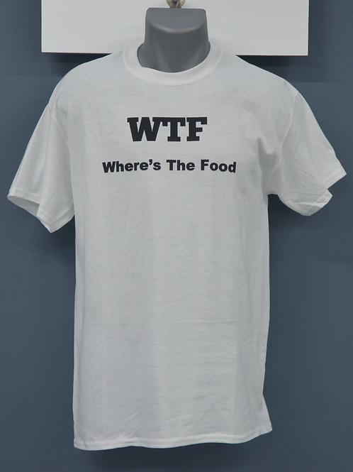 Unisex shirt wit met zwarte opdruk