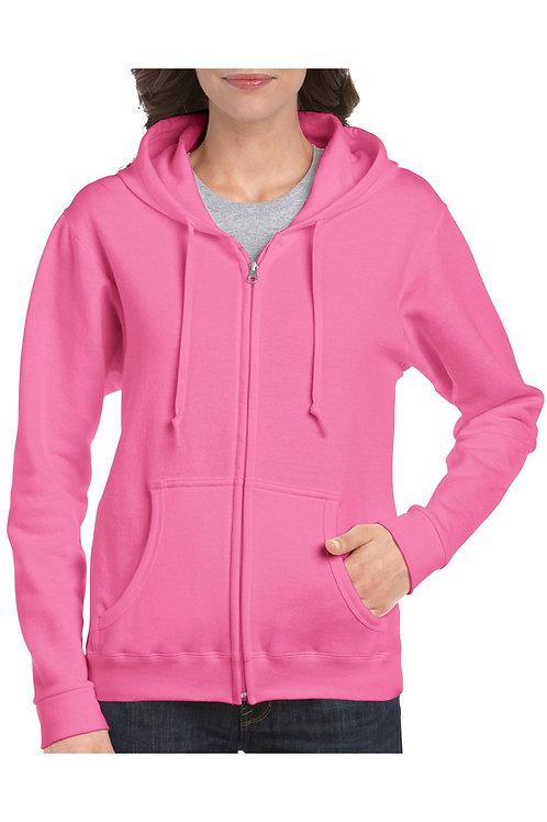 12 Gildan sweater hooded full zip heavyblend for her