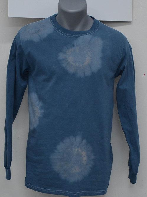 unisex blauw shirt met lange mouwen
