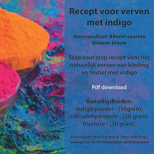Recept voor verven met indigo