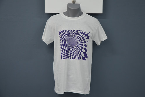 Unisex wit shirt, paarse opdruk