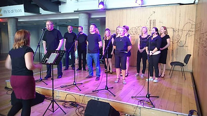 Bristol choir brigade community singing harmonies popular modern contemporary fun upbeat songs colston hall live performance