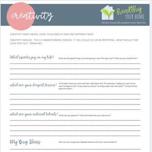 Creativity Worksheet